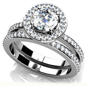 Delighted by Diamonds Matching Wedding Set