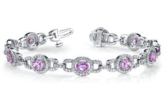 Designer Gemstone Diamond Bracelet