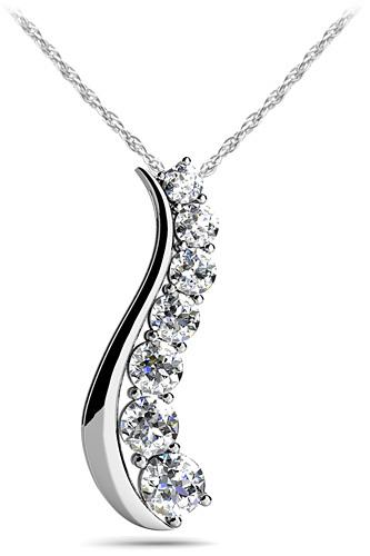 Curve Diamond Journey Pendant