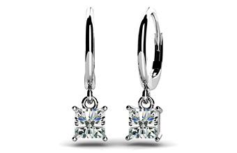 New Product Princess Cut Diamond Drop Earrings