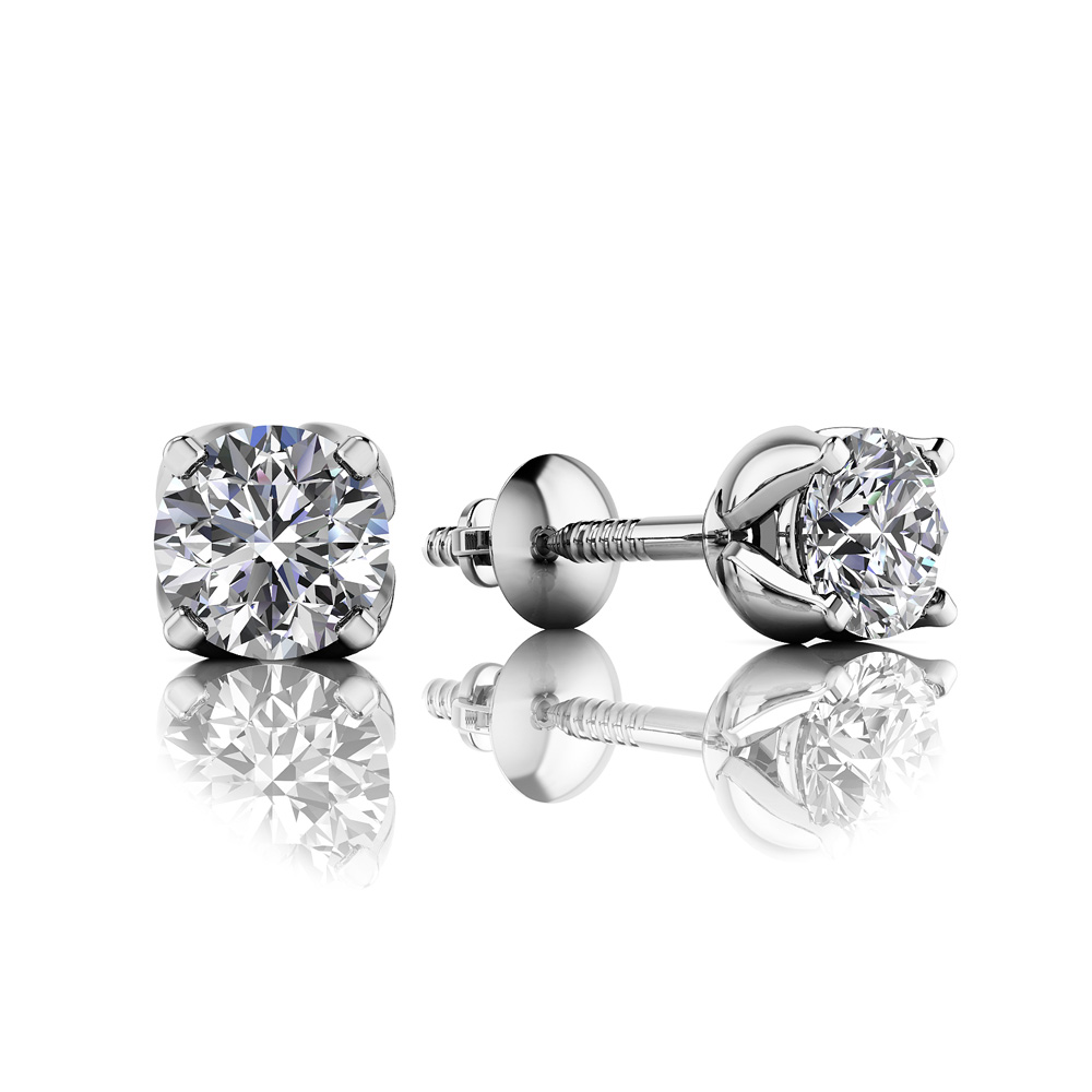 Anjolee Tulip Diamond Stud Earrings