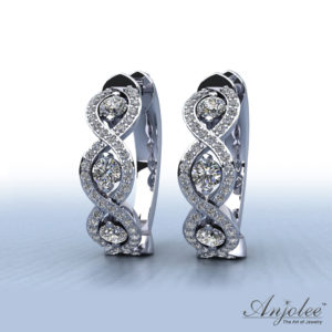 Infinity Diamond Hoop Earrings