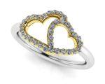 Loving Hearts Diamond Ring