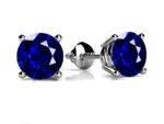 Anjolee Classic Four Prong Round Gemstone Stud Earrings