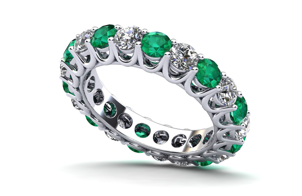 Anjolee Diamond & Gemstone Eternity Ring