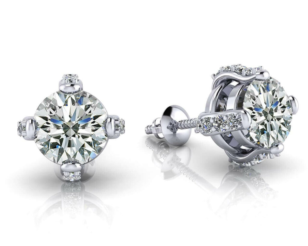 Anjolee Royal Four Prong Diamond Studs