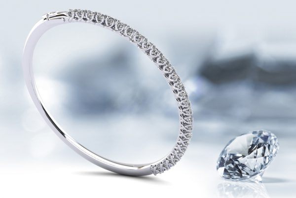 Anjolee Diamond Bangle Bracelet