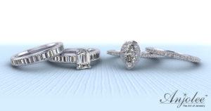 Matching Diamond Bridal Sets