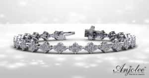 Four Clover Diamond Tennis Bracelet