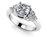 Tie The Knot Diamond Engagement Ring Available in 18K Or 14K White Gold And Yellow Gold