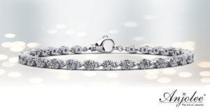 Linked Diamond Tennis Bracelet