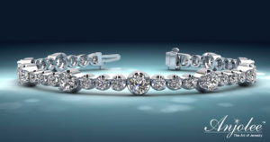 Elegant Dual Sizes Diamond Bracelet