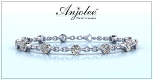 Bridal Party Gifts -Sparkling Diamond And Chain Link Bracelet