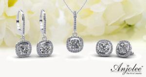 Better Together: Ravishing Cushion Cut Diamond Studs and Pendant