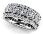 Princess Cut Diamond Frame Anniversary Ring