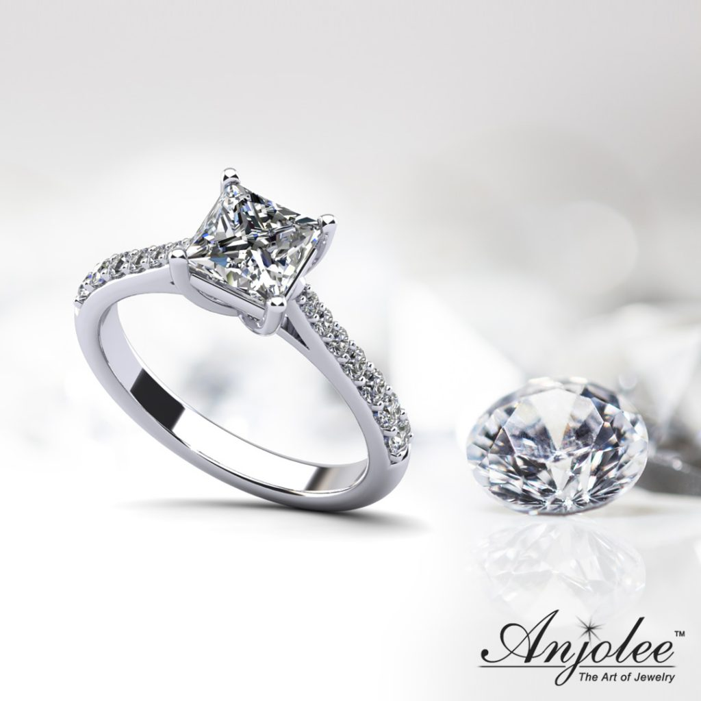 Timeless Princess Cut Engagement Ring