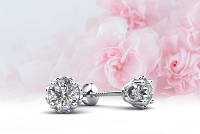 Anjolee Diamond Stud Earrings