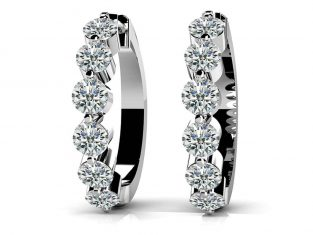 Essential Diamond Hoop Earrings