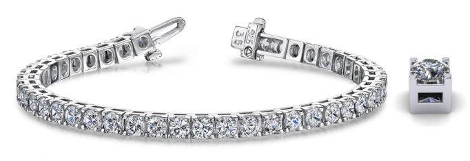Anjolee Class Four-Prong Diamond Tennis Bracelet