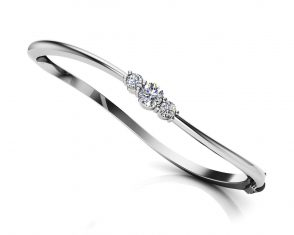 Anjolee Legendary Curved Diamond Bangle Bracelet