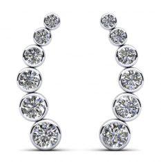 Anjolee Bezel Set Diamond Journey Earrings