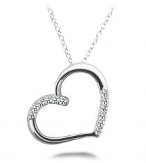 Anjolee Diamond Detail Heart Pendant