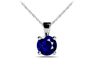 Anjolee Gemstone Solitaire Pendant Necklace