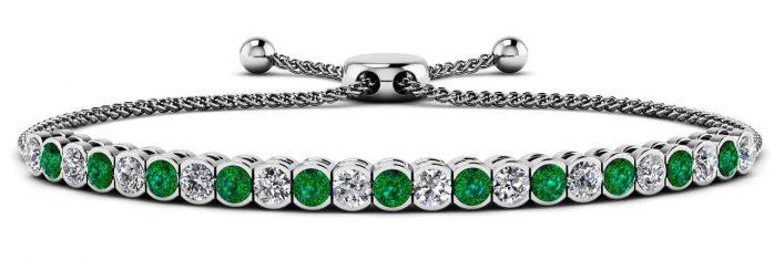 Anjolee Moonlight Adjustable Bracelet Gemstones Diamonds