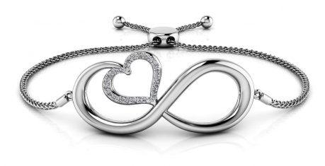 Anjolee Infinite Hearts Diamond Adjustable Bracelet