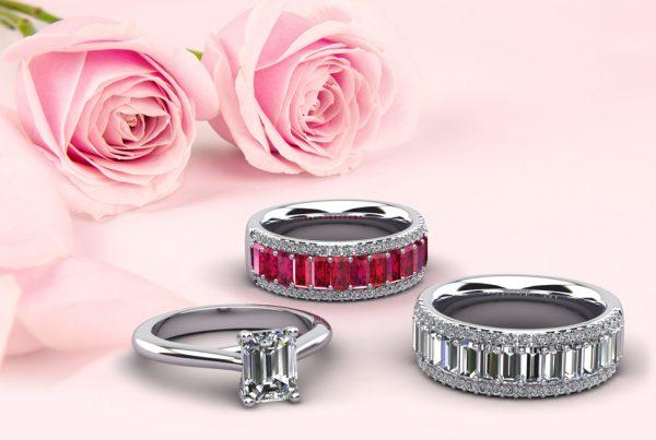 Anjolee Emerald Cut Rings