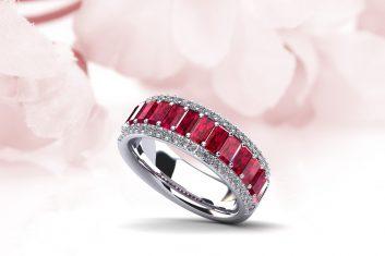 Anjolee Diamond and Gemstone Ring