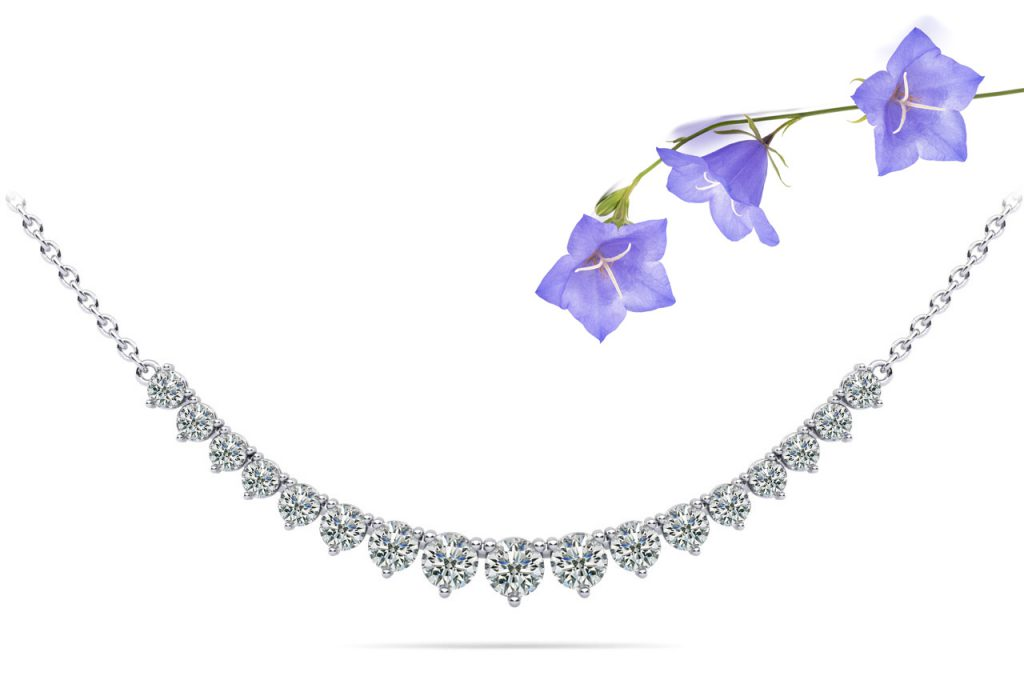 Anjolee Graduated Red Carpet Diamond Necklace With Chain