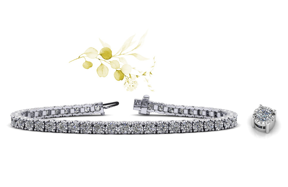 Anjolee Diamond Crown Tennis Bracelet