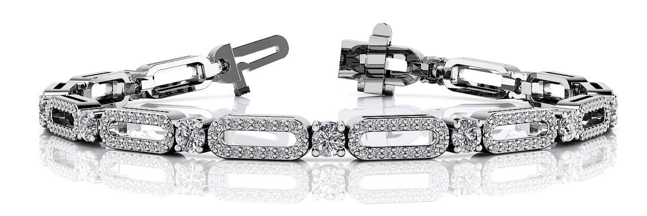 Anjolee Victorian Capsule Link Diamond Bracelet