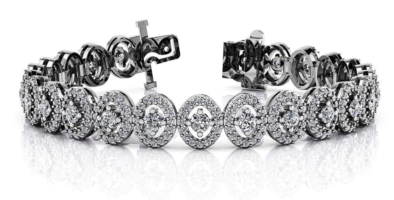 Anjolee Heirloom Round Center Diamond Bracelet