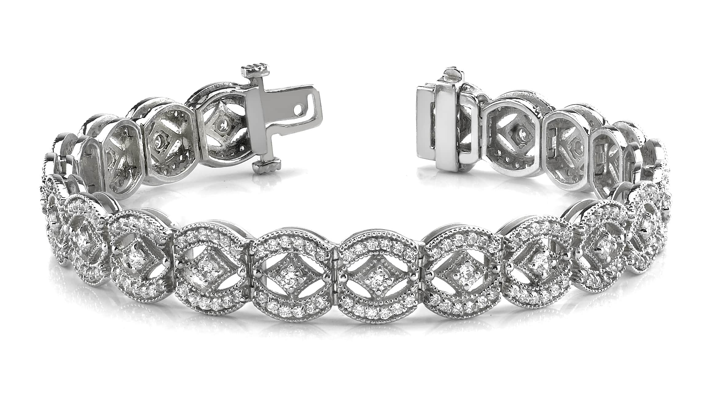 Anjolee Vintage Art Deco Diamond Bracelet