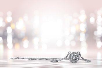 Anjolee Enchanting Halo Diamond Pendant