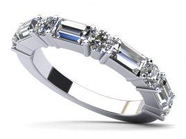 Anjolee Modern Mix Diamond Anniversary Ring