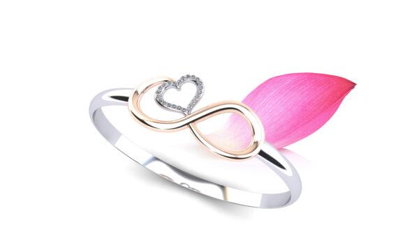 Wedding Party Gift: Infinite Hearts Diamond Bangle