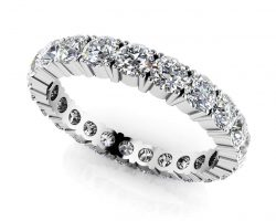Everlasting Love Four Prong Diamond Eternity Ring