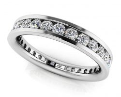 Devoted Channel Set Diamond Eternity Ring