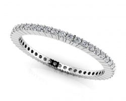 Single Row Eternity Stackable Ring