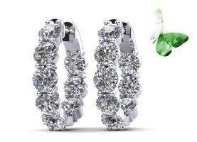 Luxury Inside Out Diamond Hoop Earrings
