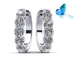 Hypnotic Diamond Hoop Earrings