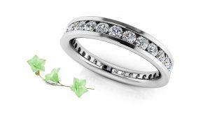 Devoted Channel Set Diamond Eternity Ring