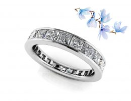 Channel Set Princess Diamond Eternity Band