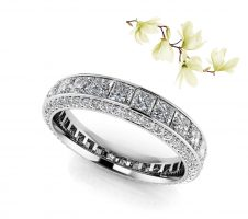 Exquisite Princess And Round Eternity Band