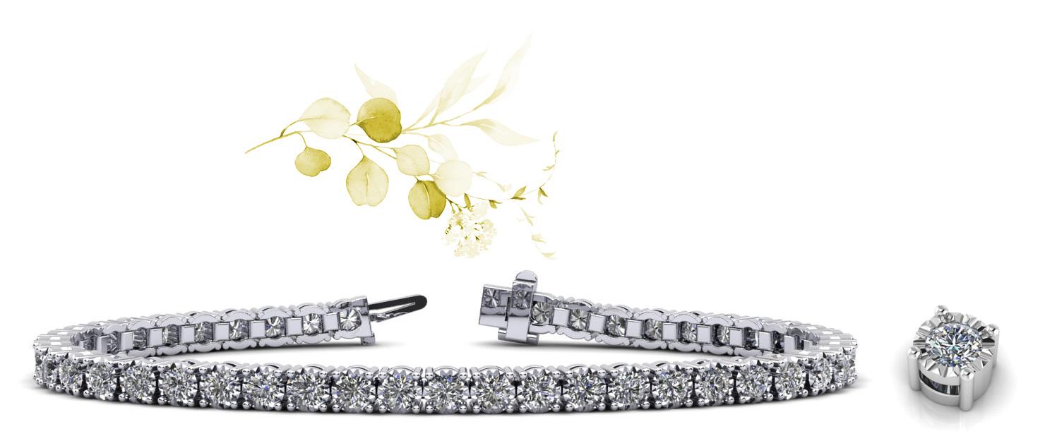 Diamond Crown Tennis Bracelet
