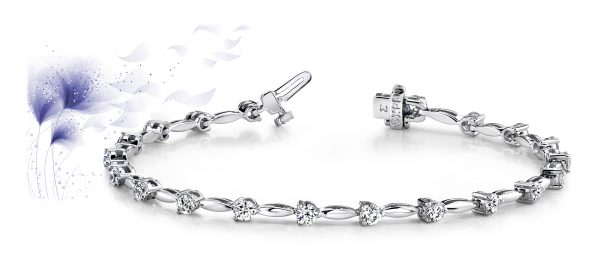 Alternating Diamond Drop Bracelet