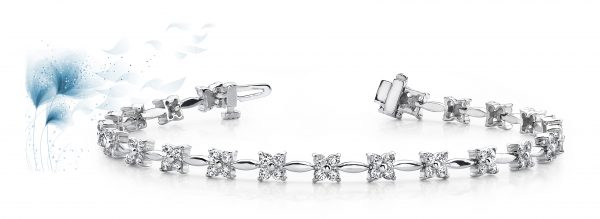 Flower Link Diamond Bracelet